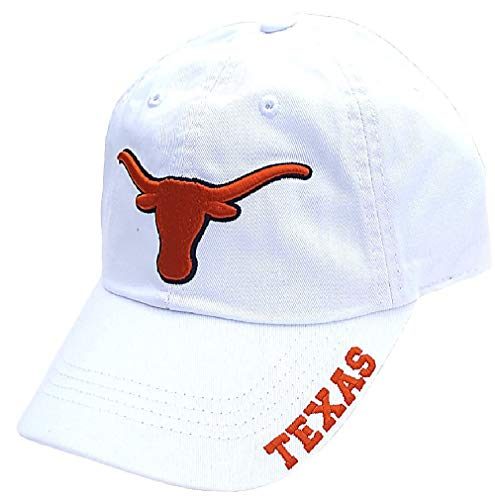 289c apparel Texas Longhorns White Basic Slouch Adjustable Cap() ()