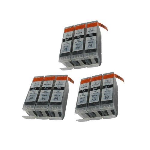 Inkcool 9 Pack. Compatible Cartridges for PGI-5. Includes Cartridges for 9ea PGI-5 Black.(9x PGI-5)