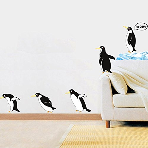 - Wall Decal Lovely Penguins Home Sticker House Decoration WallPaper Removable Living Dinning Room Bedroom Kitchen Art Picture Murals DIY Stick Girls Boys kids Nursery Baby Decoration
