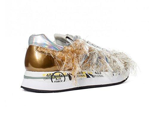 Piel de ramato Para Oro Mujer PREMIATA Zapatillas UPzxPF