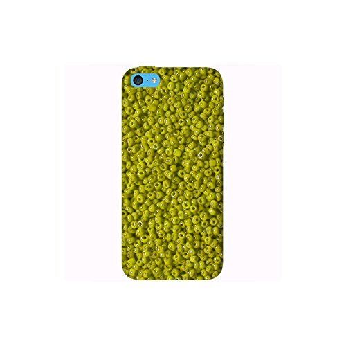 Coque Apple Iphone 5c - Perles jaunes