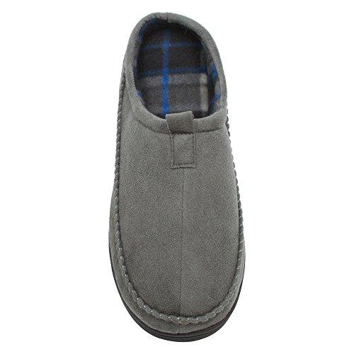 Pantofola Skysole Da Uomo In Microsuede Con Suola Robusta Grigia