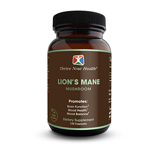 Thrive Now Health - Lion's Mane Mushroom (1000 mg), Supports Enhanced Cognitive Function, Memory Recall, Heart Health & Immunity (120 (Cell Activator 120 Capsules)