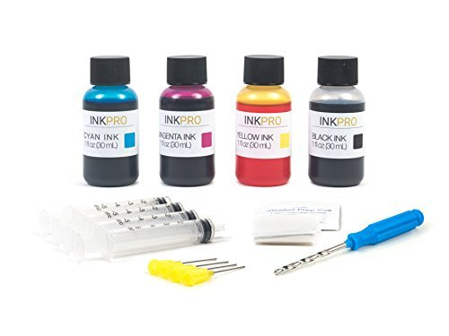 (InkPro Premium Combo Ink Refill Kit for Canon PG-245/CL-246, PG-245XL/CL-246XL 1oz 30mL)