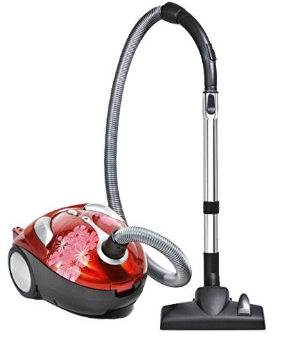 Dirt Devil Tattoo Crimson Bouquet Bagged Canister Vacuum, SD30040BB – Corded (Certified Refurbished)