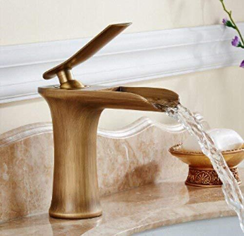 JingJingnet クロムと白の色仕上げ滝の蛇口浴室の蛇口浴室の洗面器の蛇口お湯と冷たい水 (Color : C) B07R9MNK7Y C