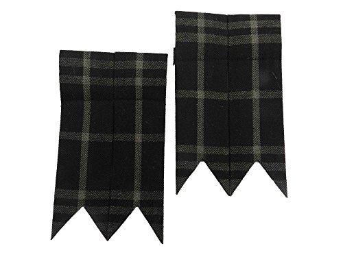 Tartan Flashes (UT Kilts Traditional Kilt Flashes (Highlander Gray))