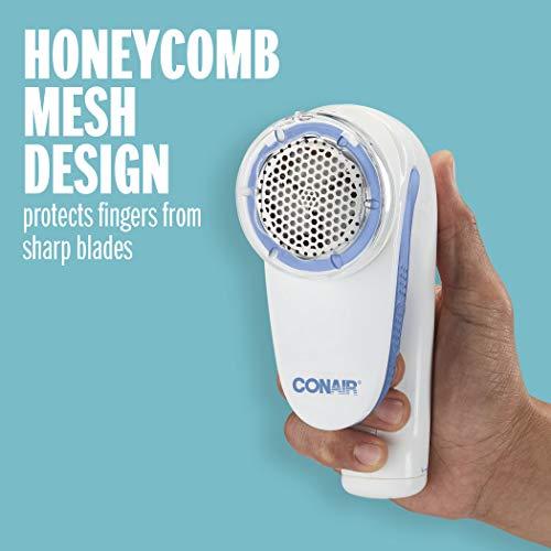 Conair Battery Operated Fabric Defuzzer/Shaver, White, Regular