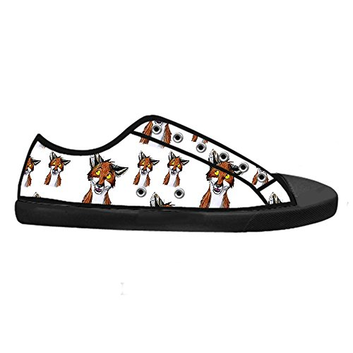Dalliy Custom Fox Mens Canvas Shoes Schuhe Lace-Up High-Top Sneakers Segeltuchschuhe Leinwand-Schuh-Turnschuhe C