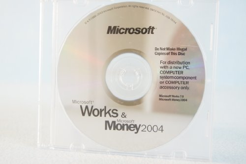 Microsoft Works & And Money 2004 PC Computer Program Software P/N# X09-78744 Works Version 7.0 Money 2004 Comes W/Original Authentic Microsoft COA
