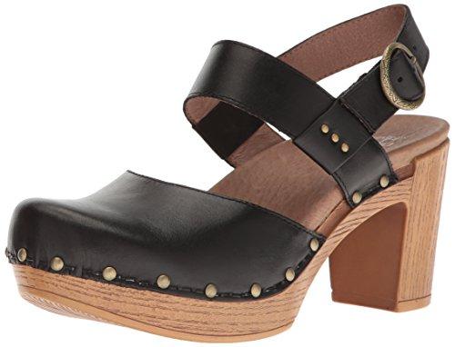 Dansko Women's Dotty Heeled Sandal, Black Full Grain, 37 EU/6.5-7 M US by Dansko