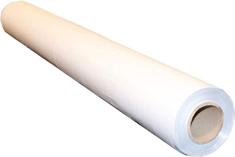 1000sqft NASATECH (6 Mil Reinforced Scrim) White/Foil (Waterproof) Vapor Barrier 4ft x 250ft Encapsulation Pier Wrap Crawlspace (White/Foil) Solid Super Strong Reinforced Scrim