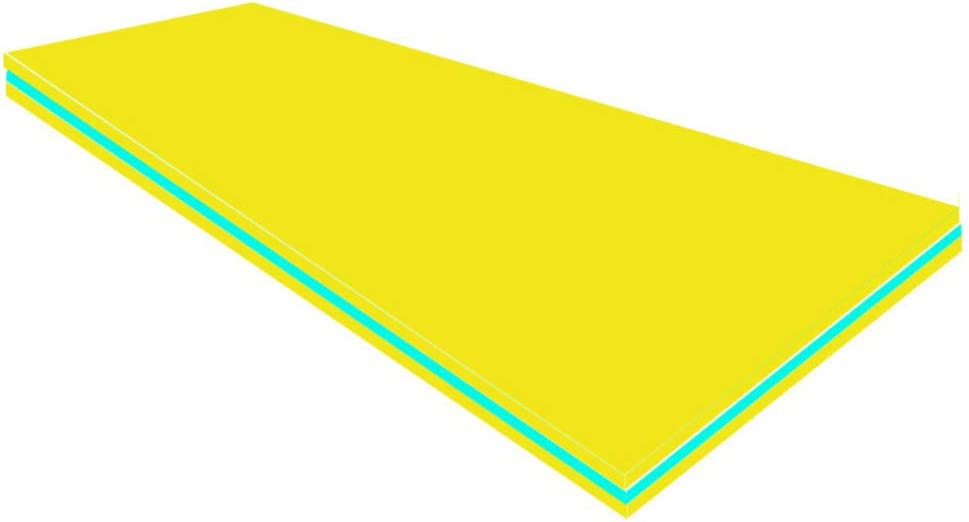 TriGold Outroad Water Floating Food,Foldable Pool Float Pad for Lakes Oceans Pools,Floating Foam Water Carpet for Kids Yellow 185883.2cm
