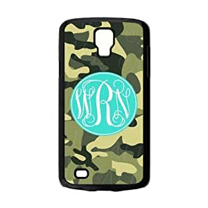 Special Dark Green The Army Camouflage Design Blue Cyan Monogram Custom Plastic For Case Samsung Galaxy S5 Cover Active @ALL