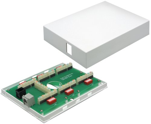 Module Telco - Allen Tel Products GB33645-L3 Network Media Box Enclosure With 2 Telco 6 Line Circuit Modules And 1 RJ31-X Security Alarm Jack