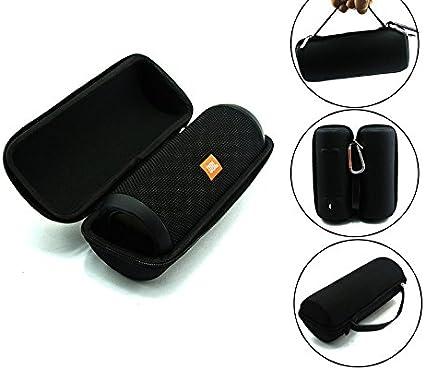 Amazon Com Jbl Flip 3 Splash Proof Portable Bluetooth Speaker Black Plus Protective Hard Cover Portable Case Black With Keychain Home Audio Theater