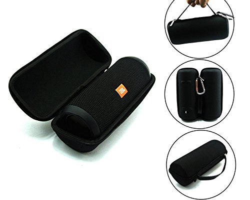 (JBL Flip 3 Splash proof Portable Bluetooth speaker, Black PLUS Protective Hard Cover Portable Case, Black with keychain.)