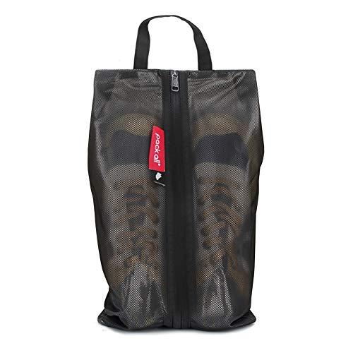pack all Water Resistant Travel Shoe Bags, Shoe Storage Organizer Shoe Pouch with Zipper, for Men Women (Black) (Waterproof Shoe Bag)