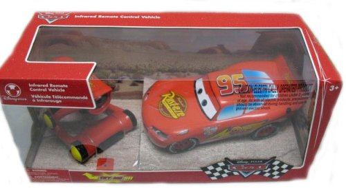 Limited-Availability-DisneyPixar-Cars-Lightning-McQueen-Infrared-Remote-Control-Vehicle-RC-Car-BATTERIES-INCLUDED
