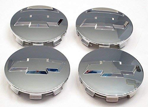 (Autocaps Gosweet CV075 4X Brand NEW Four Pieces Chrome Wheel Center Hub Cap for Chevy 2005-2013 Chevrolet 3.25