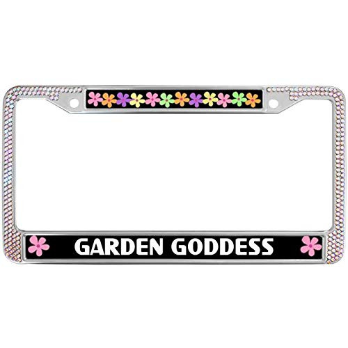(Durable License Plate Frame,Auto License Plate Frames Stainless Garden Goddess License Plate Frame Fits All US License Men Women Car Garage Decor)