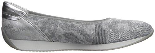 ara Womens Lauren Ballet Flat Came Grey Woven HDWMs