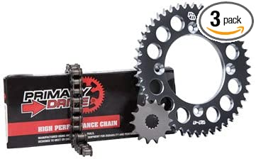 Primary Drive HEAVY DUTY Chain and Sprocket Kit Front Steel Sprocket Black Rear Aluminum Sprocket 428 MC Chain Fits: YAMAHA YZ85 2002 Stock or Custom Sizes 2019