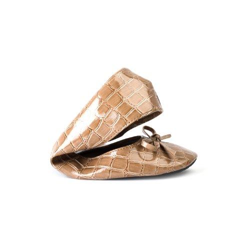jusqu' Ballerines avec femme beige couleurs pliables disponibles ruban comme tailles crocodile dans Chaussures les OqdwtO