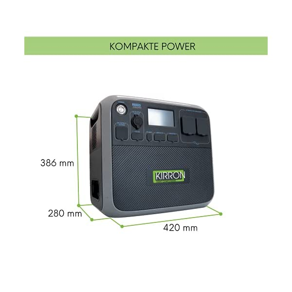 41oVvUTTHkS Kirron AC200P Powerstation 2000 Wh/2000 W + Solartasche Sunfolder 220W I neue Software 1.1/Bluetti Poweroak I 230 V…