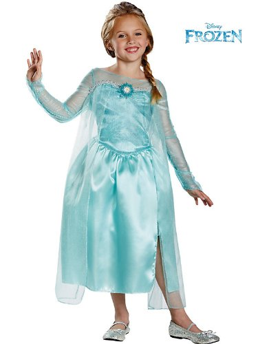Disguise Disneys Frozen Elsa Snow Queen Gown Classic Girls Costume