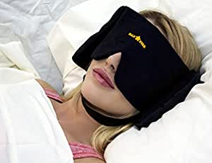 NAP STAR Sleep Mask - Deluxe Transformer. Revolutionary, Patented, - Sound Muffling Sleep Mask Travel Pillow - Free Earplugs - String-tie Pouch - Free! - New Air Travel HiSigns