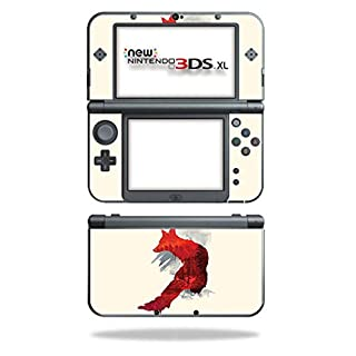 MightySkins Skin Compatible with Nintendo 3DS XL (2015) - Fox Blood | Protective, Durable, and Unique Vinyl Decal wrap Cover | Easy to Apply, Remove, and Change Styles | Made in The USA