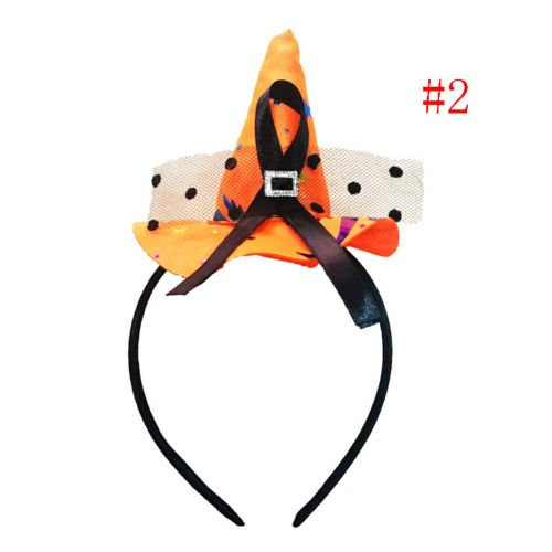 UNAKIM --Pointy Witch Hat Hairband Headband Cosplay Halloween Party Fancy Dress (Yoshi Custome)