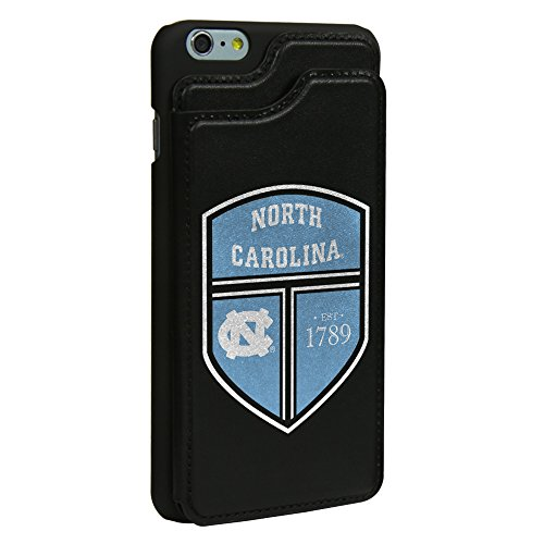 North Carolina Purse (North Carolina Tar Heels Guard Dog Leather Wallet Case for iPhone 6 Plus / 6s Plus with Guard Glass Screen Protector)
