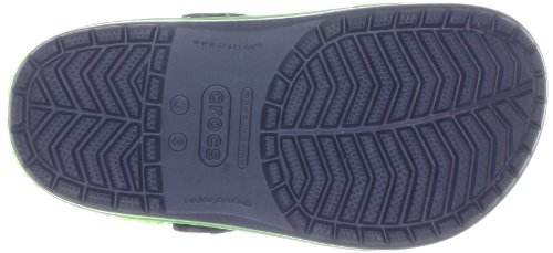 crocs Crocband II.5 Winter Clog Kids 12839 Unisex - Kinder Clogs und Pantoletten Blau (Navy/Lime 479)