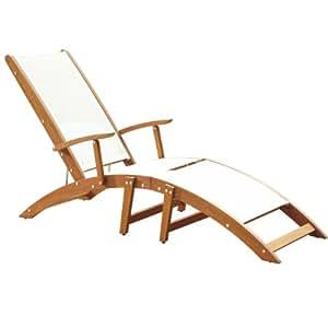 Home Styles Bali Hai Chaise Lounge Chair, Natural Teak