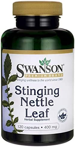Swanson Stinging Nettle Leaf Herb Urinary Tract Health Respiratory Health Prostate Support Men s Health Herbal Supplement Urtica dioica Leaf 400 mg 120 Capsules