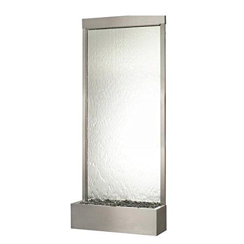 10' Waterfall Grande Floor Fountain Stainless Steel Frame w Silver Mirror ()