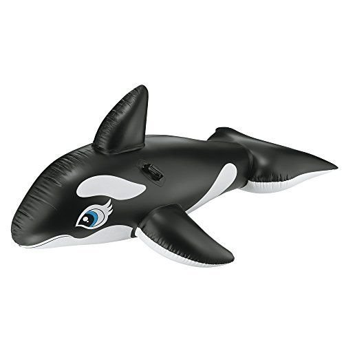 Whale Ride Intex Ages Pool Inflatable Kids Float Swimming Orca Large Toy Fun New