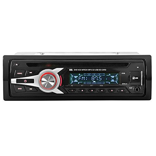 KKmoon KV8169 Universal In-Dash Single DIN Car CD DVD MP3 FM Receiver & Player with Aux Input SD / USB Port