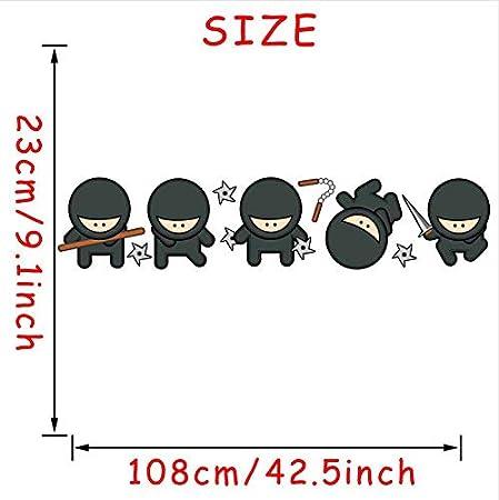 ZYL123 Colorido Silueta Ninja Pegatinas De Pared De Color ...