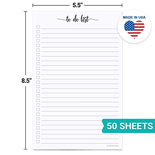 "Image of 321Done To Do List Notepad - 50 Sheets (5.5"" x 8.5"") To-Do's Notepad"