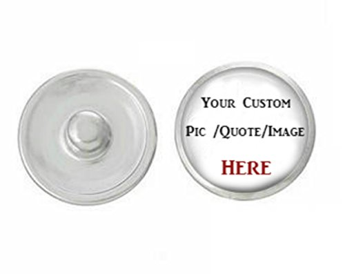 Your Custom Snap On Button Snap Jewelry Interchangeable Noosa Style Snap Charm Chunk Popper.The Price is for one - Stores Noosa