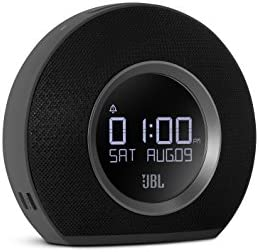 JBL Horizon – Bluetooth Clock Radio with USB Charging and Ambient Light – Black