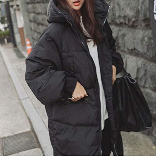 Pelliccia Corea Spessore Cappotto Oversize Femminile Nero Le Moda Giù Caldo Size Plus Invernale Donne Anatra Outwear Parka Txwt0PqBW