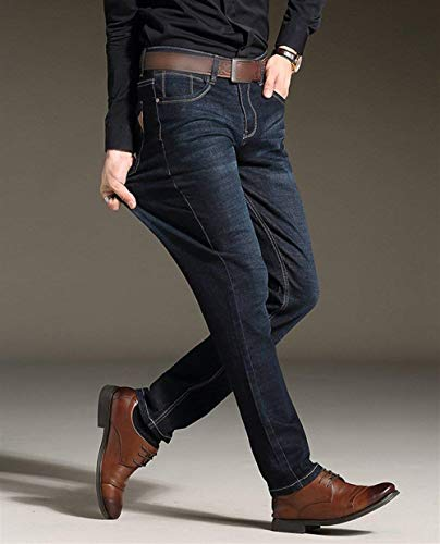 Da Uomo Slim Estilo Especial In Vintage Denim Pantaloni Stretch Casual Comodi Nero Jeans Bobo 88 FSqRTHS