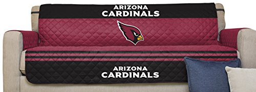 - NFL Arizona Cardinals Sofa Couch Reversible Furniture Protector with Elastic Straps, 75-inches by 110-inches