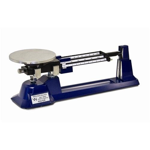 Walter Products B-200-W-O Economy Triple Beam Balance with Weight Set, 2610 g Capacity