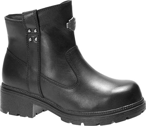 Harley-Davidson Women's Camfield 5-In Leather Motorcycle Safety Boots (BLK, - 6.75 High Inch Heel