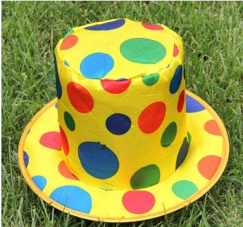 Taka Co Circus Party Decorations 1Pack Polka Dot Clown Hat Circus Carnival Halloween Party Accessory clown caps cosplay Birthday Party Decoration